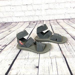 Columbia Gray Baracca Elastic Strap Sandals 6